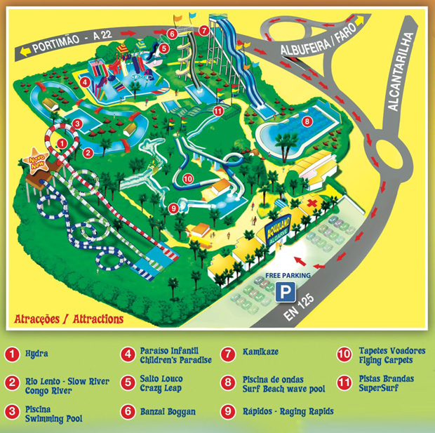 aqualand algarve map